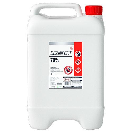 Dezinfekt (70%) 5 litrov - Univerzálny liehový dezinfekčný prostriedok na báze bioetanolu