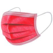 Ochranné rúška ČERVENÉ jednorazové 3-vrstvové vysokej kvality z netkanej textílie