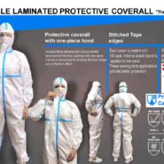 A.L.K.A Profi ochranný oblek overal kat. III typ T3 T4 T5 T6 EN14126 CE2163 biely